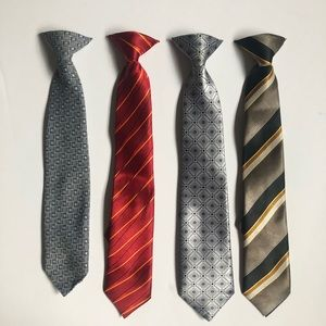 Other - 4 Patterned boys clip on ties